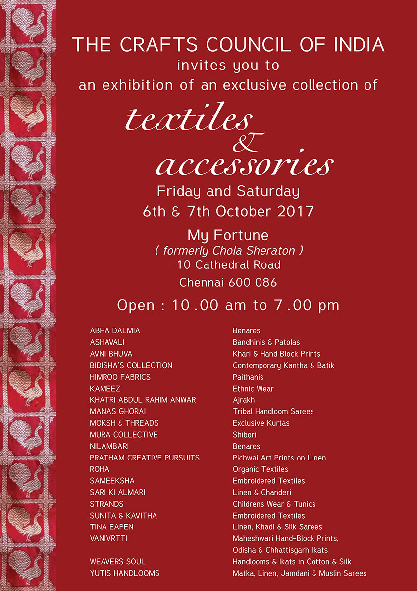 Crafts Council Of India Textiles And Accessories Show