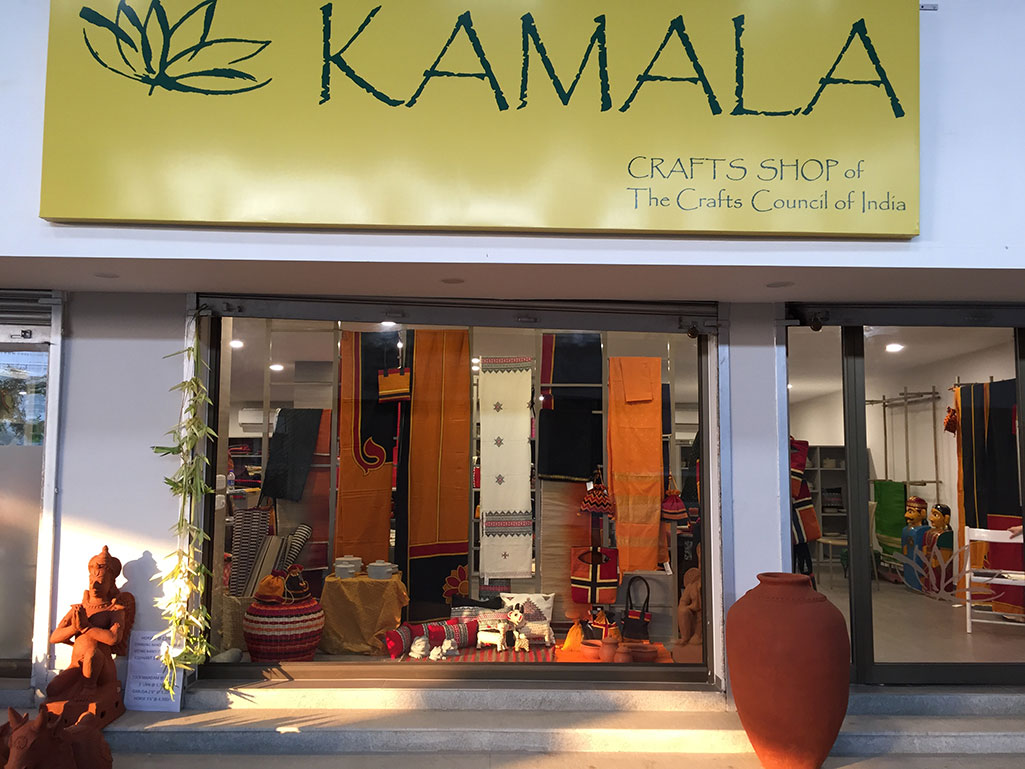 crafts council of india | opening of kamala, the crafts shop
