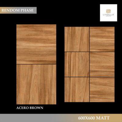 600x600 Wood ACERO BROWN