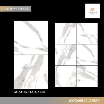 600x600 Glossy AGATHA STATUARIO