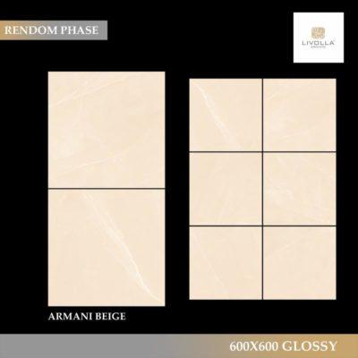 600x600 Glossy ARMANI BEIGE