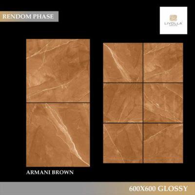600x600 Glossy ARMANI BROWN