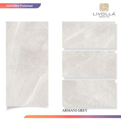 800x1600 Glossy ARMANI GREY