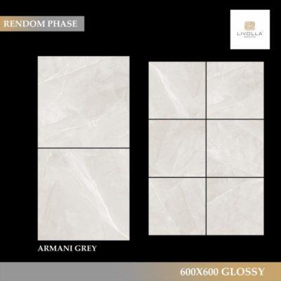 600x600 Glossy ARMANI GREY