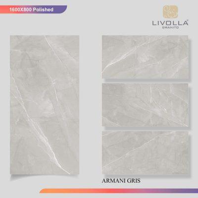 800x1600 Glossy ARMANI GRIS