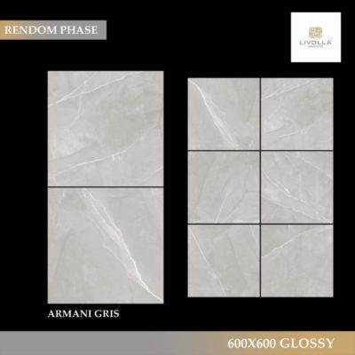 600x600 Glossy ARMANI GRIS