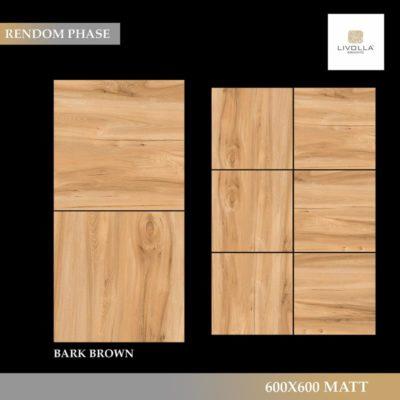 600x600 Wood BARK BROWN