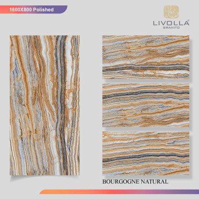 800x1600 Glossy BOURGOGNE NATURAL