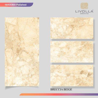 800x1600 Glossy BRECCIA BEIGE