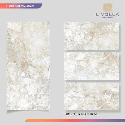 800x1600 Glossy BRECCIA NATURAL
