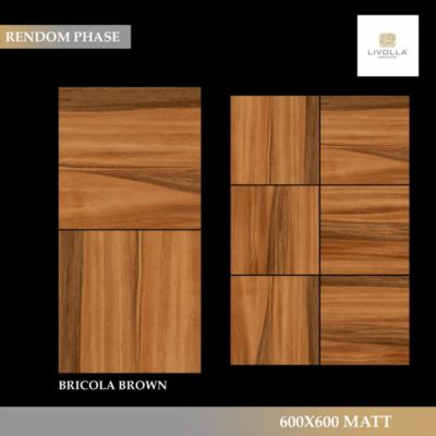 600x600 Wood BRICOLA BROWN