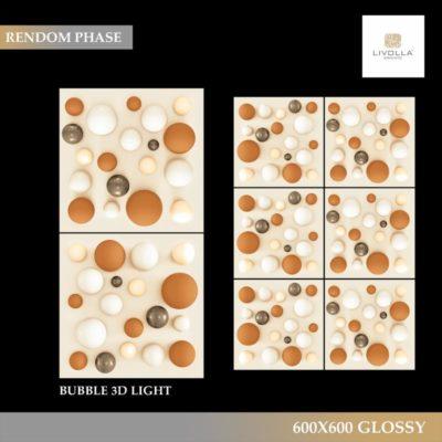 600x600 Glossy BUBBLE 3D LIGHT