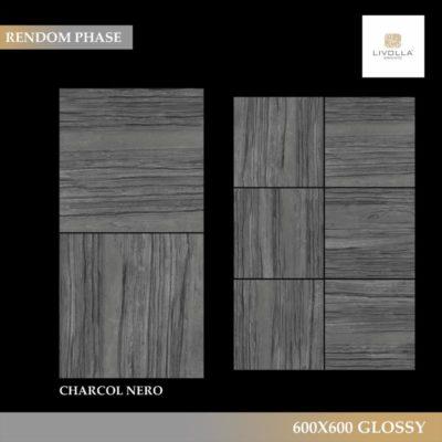600x600 Glossy CHARCOL NERO
