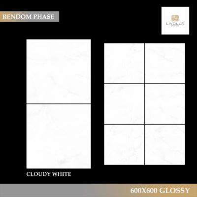600x600 Glossy CLOUDY WHITE