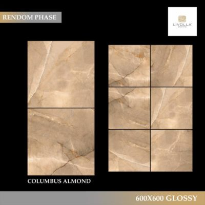600x600 Glossy COLUMBUS ALMOND