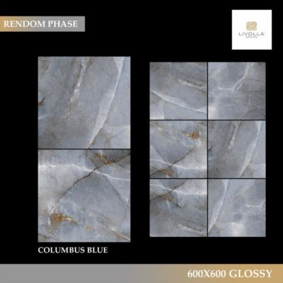 600x600 Glossy COLUMBUS BLUE