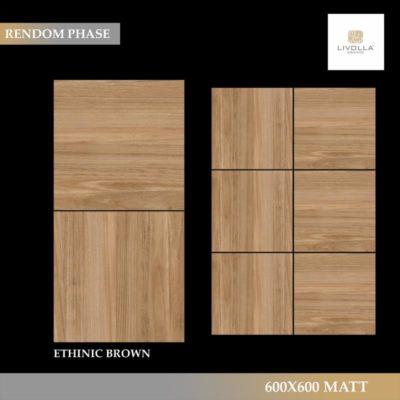 600x600 Wood ETHINIC BROWN