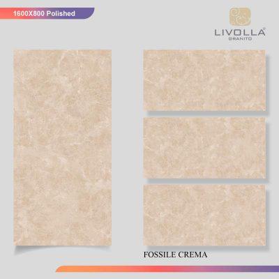 800x1600 Glossy FOSSILE CREMA