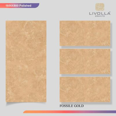 800x1600 Glossy FOSSILE GOLD