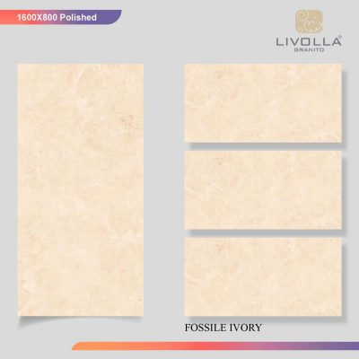 800x1600 Glossy FOSSILE IVORY