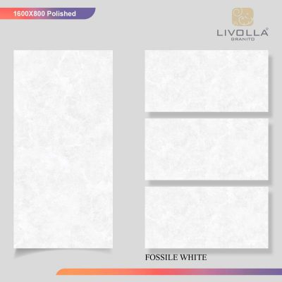800x1600 Glossy FOSSILE WHITE