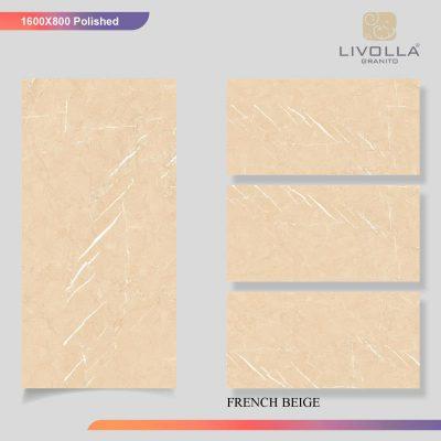 800x1600 Glossy FRENCH BEIGE