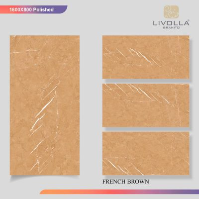 800x1600 Glossy FRENCH BROWN