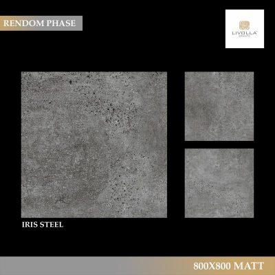 800x800 Matt IRIS STEEL