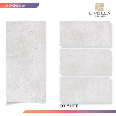 800x1600 Matt IRIS WHITE