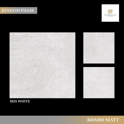 800x800 Matt IRIS WHITE