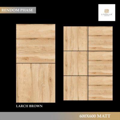 600x600 Wood LARCH BROWN
