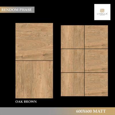 600x600 Wood OAK BROWN