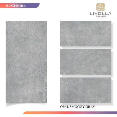 800x1600 Matt OPAL SMOGGY GRAY
