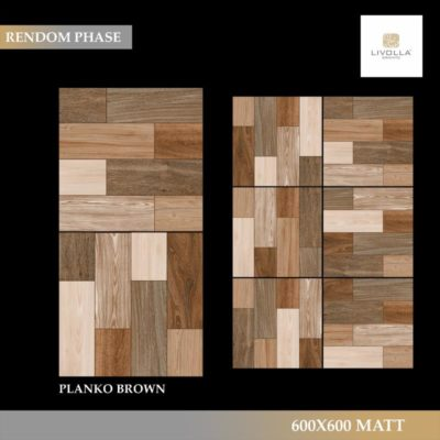 600x600 Wood PLANKO BROWN