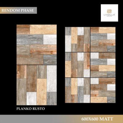 600x600 Wood PLANKO RUSTO
