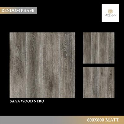 800x800 Matt SAGA WOOD NERO