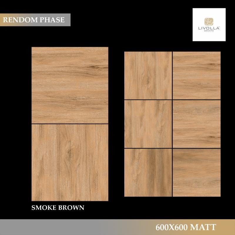 600x600 Wood SMOKE BROWN
