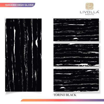 800x1600 High Glossy TORINO BLACK