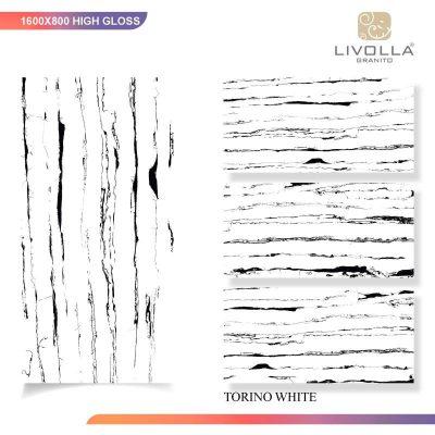 800x1600 High Glossy TORINO WHITE