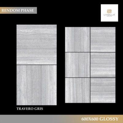 600x600 Glossy TRAVERO GRIS