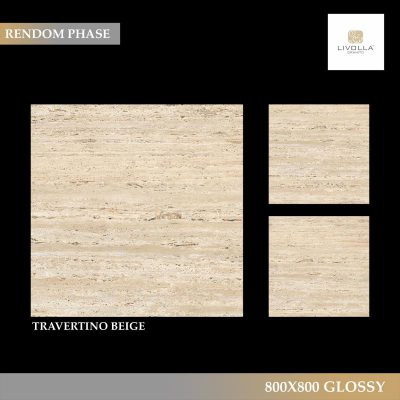 800x800 Glossy TRAVERTINO BEIGE
