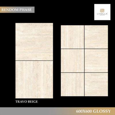 600x600 Glossy TRAVO BEIGE