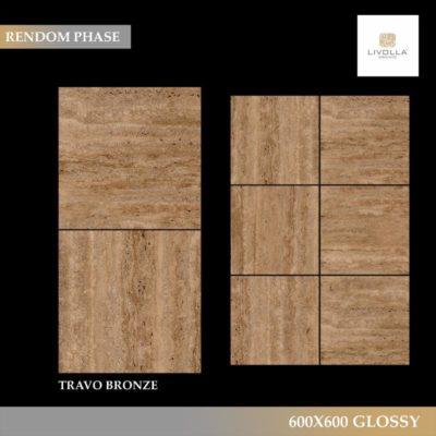 600x600 Glossy TRAVO BRONZE