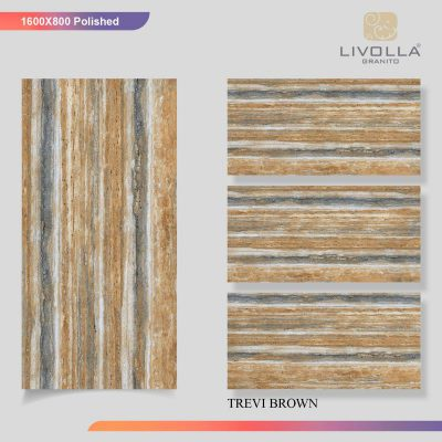 800x1600 Glossy TREVI BROWN