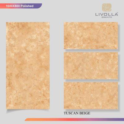 800x1600 Glossy TUSCAN BEIGE