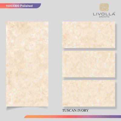 800x1600 Glossy TUSCAN IVORY