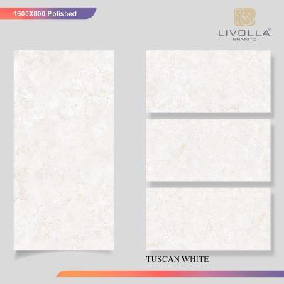 800x1600 Glossy TUSCAN WHITE