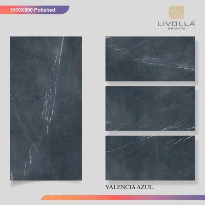 800x1600 Glossy VALENCIA AZUL