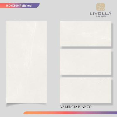 800x1600 Glossy VALENCIA BIANCO