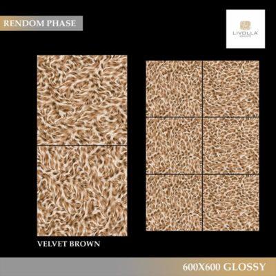 600x600 Glossy VELVET BROWN
